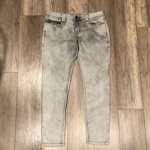 Grey Acid Wash Jeans - American Rag